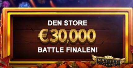 sjanse til å vinn €30000 på videoslots .